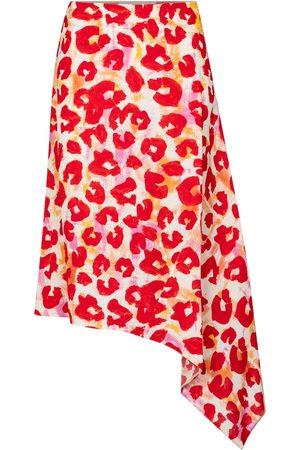 Marni Leopard-print sablé midi skirt