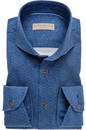 john miller Overhemd blauw patroon Tailored Fit