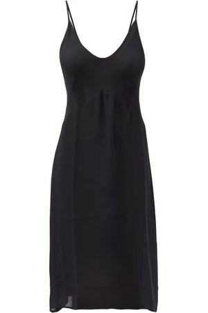 Araks Cadel Pintucked Silk-georgette Slip Dress - Womens - Black