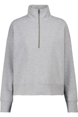 Vince Cotton-blend terry half-zip sweatshirt