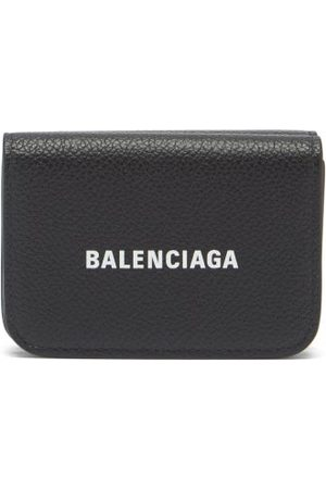 Balenciaga Logo-print Grained-leather Bi-fold Wallet