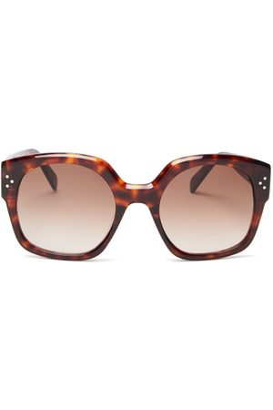 Céline Oversized Round Tortoiseshell-acetate Sunglasses - Womens - Tortoiseshell