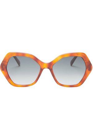 Céline Hexagonal Tortoiseshell-acetate Sunglasses - Womens - Tortoiseshell
