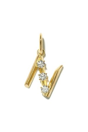 Jade Trau Dames Kettingen - Diamond & 18kt Gold Initial Charm (n-z) - Womens - Yellow Gold