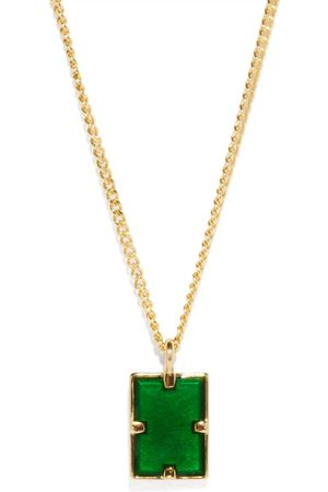 MIANSAI Heren Kettingen - Lennox Enamel & Gold-vermeil Necklace - Mens - Gold