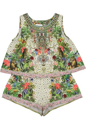 Camilla Printed cotton playsuit