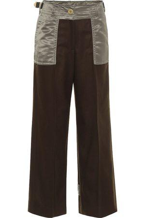 SACAI Wool twill pants