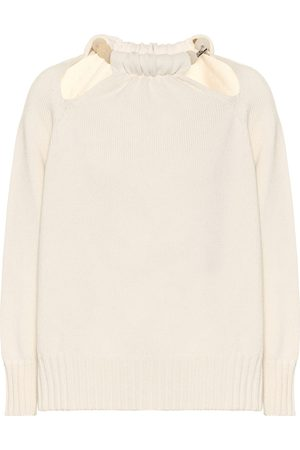 Jil Sander Beaded cut-out wool-blend sweater