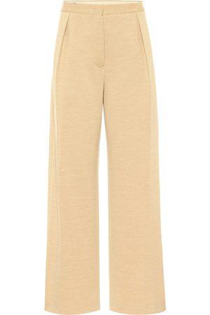 Jil Sander High-rise straight wool-jersey pants