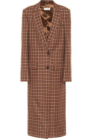 DRIES VAN NOTEN Checked wool-blend coat