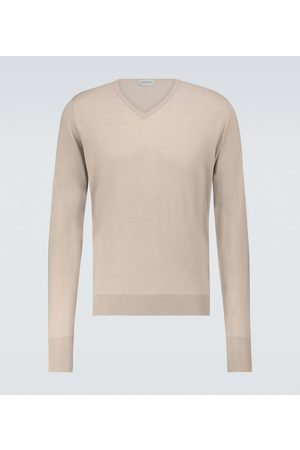 JOHN SMEDLEY Bobby merino-blend V-neck sweater