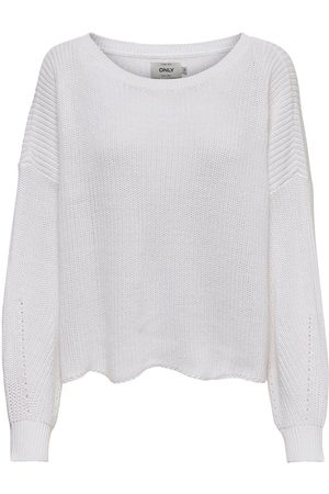 Only Loose Fit Gebreide Trui Dames White