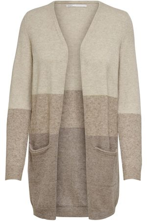 Only Long Knitted Cardigan Dames Beige
