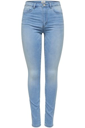 Only Onlroyal High Waist Skinny Jeans Dames Blauw