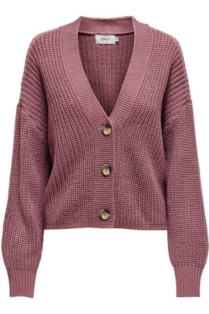 Only Texture Knitted Cardigan Dames Roze