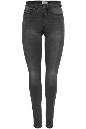 Only Onlroyal High Skinny Jeans Dames Grijs
