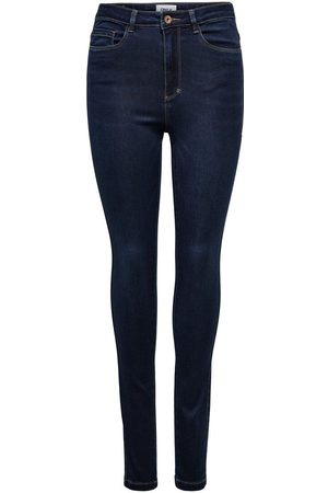 Only Onlroyal Life Hw Skinny Jeans Dames Blauw