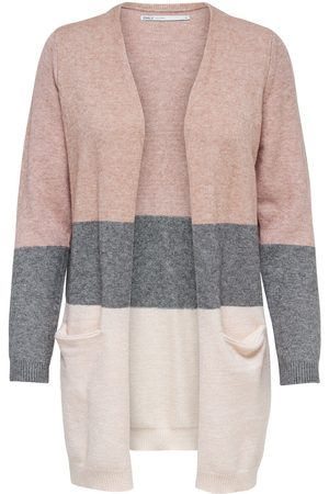 Only Long Knitted Cardigan Dames Roze