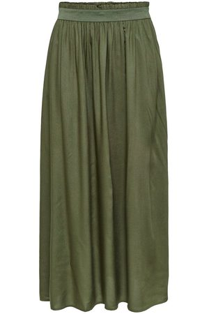 Only Effen Maxi Rok Dames Green