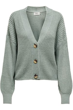 Only Texture Knitted Cardigan Dames Green