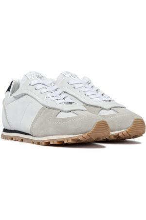 Maison Margiela Dames Sneakers - Replica suede and leather sneakers