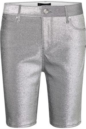 RTA Dames Shorts - Toure metallic stretch-denim shorts