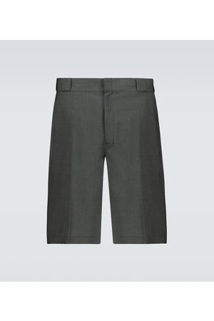 Prada Tailored wool poplin bermuda shorts
