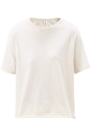 EXTREME CASHMERE Todd Rolled-hem Knitted T-shirt - Womens - Ivory