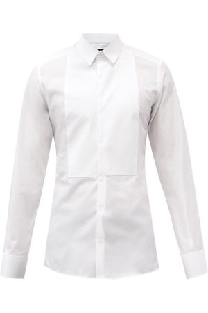Dolce & Gabbana Square-bib Cotton-poplin Tuxedo Shirt - Mens - White