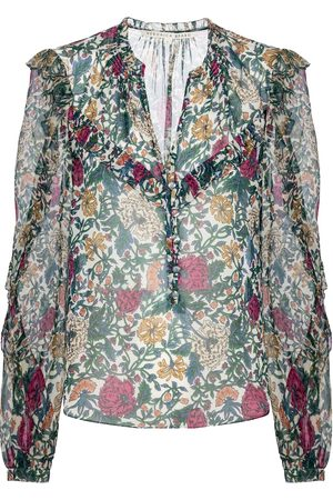 VERONICA BEARD Abra floral silk blouse