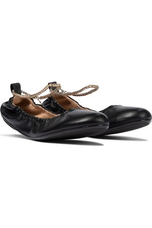 Gianvito Rossi Embellished leather ballet flats