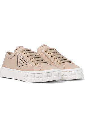 Prada Wheel canvas sneakers