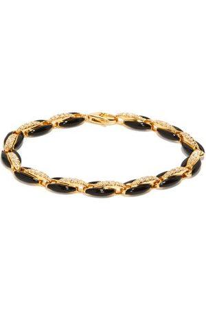 Melissa Kaye Ada Diamond, Enamel & 18kt Gold Bracelet - Womens - Black