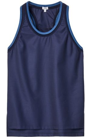 Loewe Round-neck Twill Tank Top - Womens - Navy