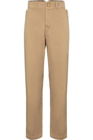 Etro High-rise cotton carrot pants