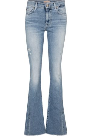 7 for all Mankind Split-hem mid-rise bootcut jeans