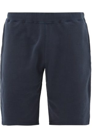 Sunspel Mid-rise Cotton-jersey Shorts - Mens - Navy