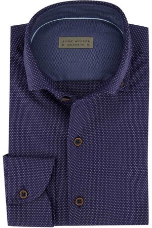 john miller Heren Zakelijk - Overhemd Tailored Fit navy print
