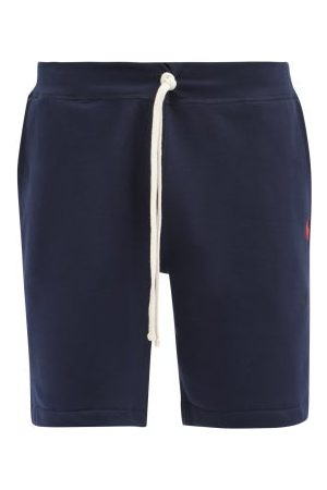 Polo Ralph Lauren Drawstring Cotton-blend Jersey Shorts - Mens - Navy