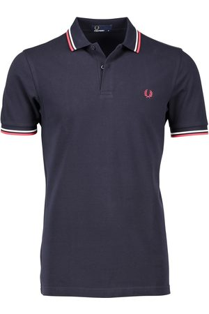 Fred Perry Heren Poloshirts - Twin tipped polo navy