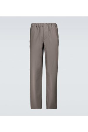 Loro Piana Leisure Flat wool pants