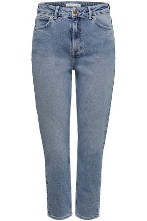 Only Jdykaja Life High Ankle Straight Fit Jeans Dames Blauw