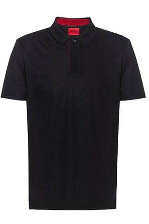 HUGO BOSS Heren Poloshirts - Cotton-blend polo shirt with covered placket