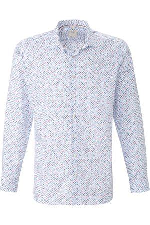 Olymp Overhemd van 100% katoen met minimal-dessin Van