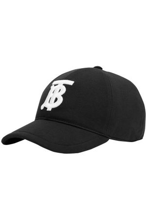 Burberry Logo-embroidered Canvas Baseball Cap - Mens - Black