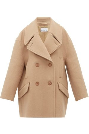 Raey Oversized Wool Pea Coat - Womens - Camel