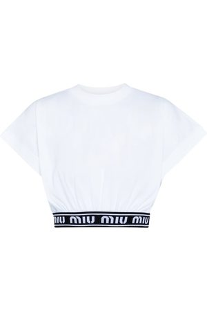 Miu Miu Logo cotton crop top