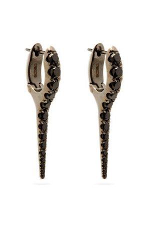Melissa Kaye Lola Diamond & 18kt Black-gold Needle Earrings - Womens - Black
