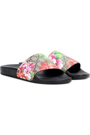 Gucci Dames Slippers - GG Blooms Supreme slides