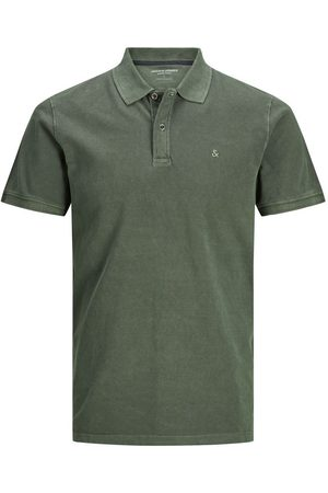 Jack & Jones Katoenen Jersey Polo Heren Green